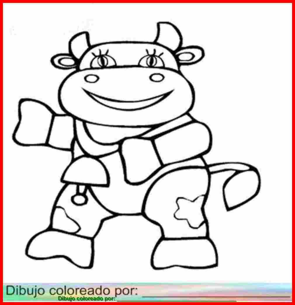 dibujo de vaca para colorear imprimir y pintar sobre papel