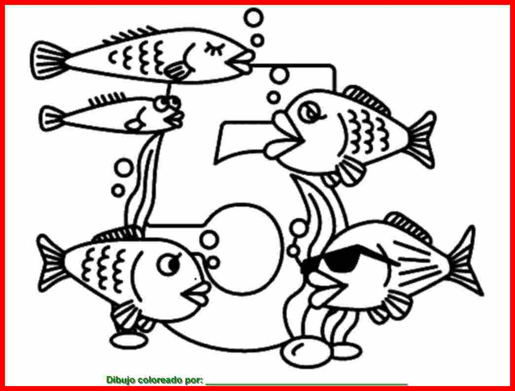 dibujo de peces para colorear e imprimir.