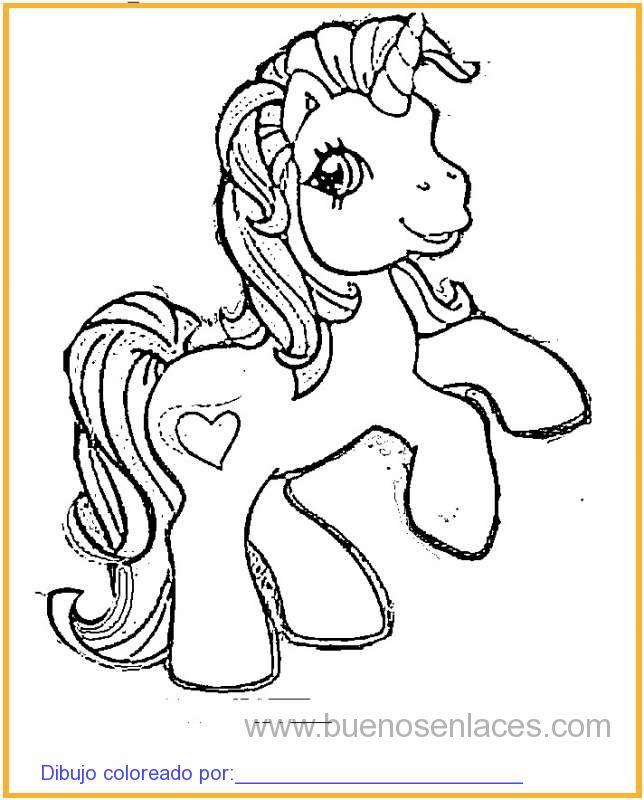 Dibujos para colorear Mi pequeño pony.Dibujos de mi