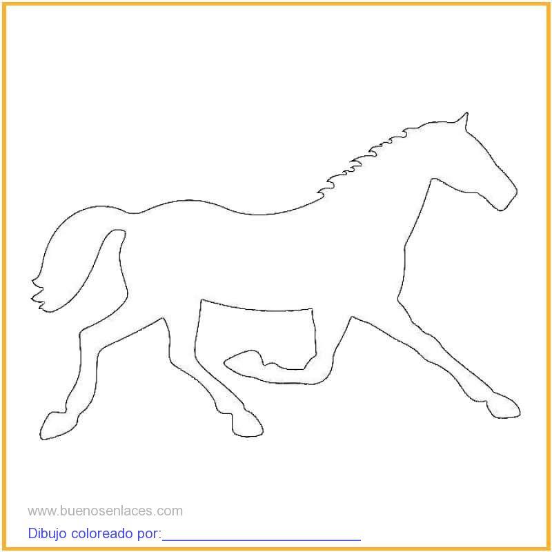 dibujo de caballo trotando para colorear e imprimir