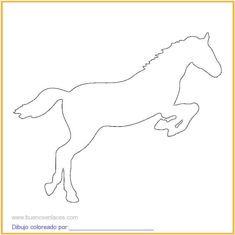 dibujo de caballo saltando para colorear e imprimir.