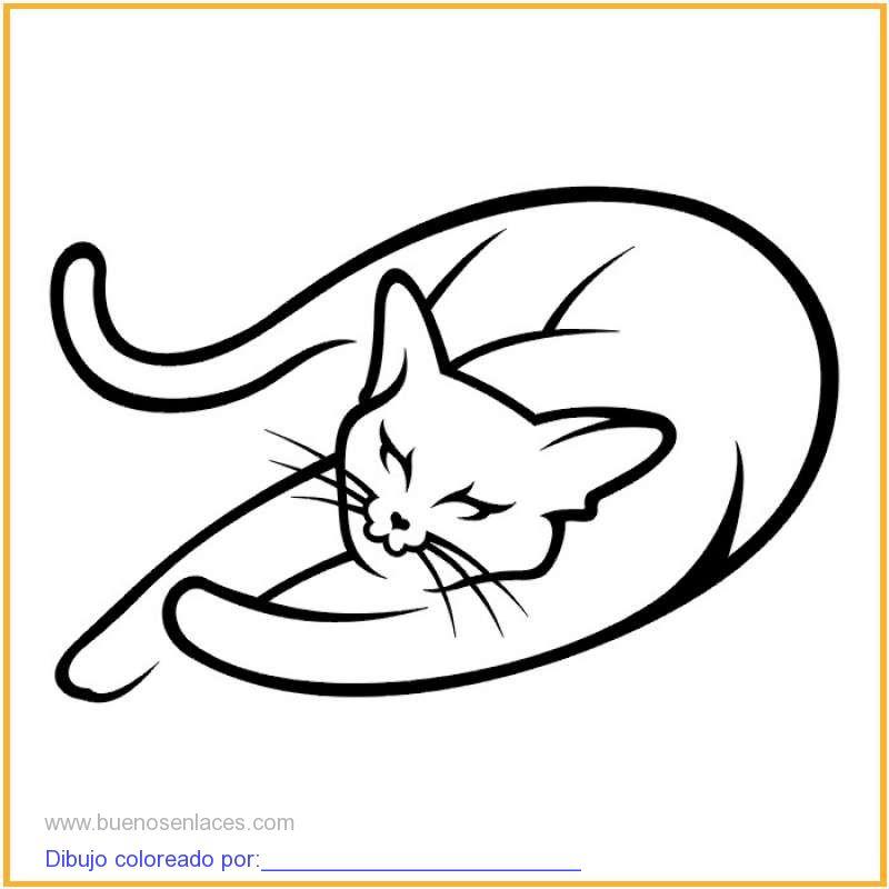 dibujo de gato para colorear e imprimir.