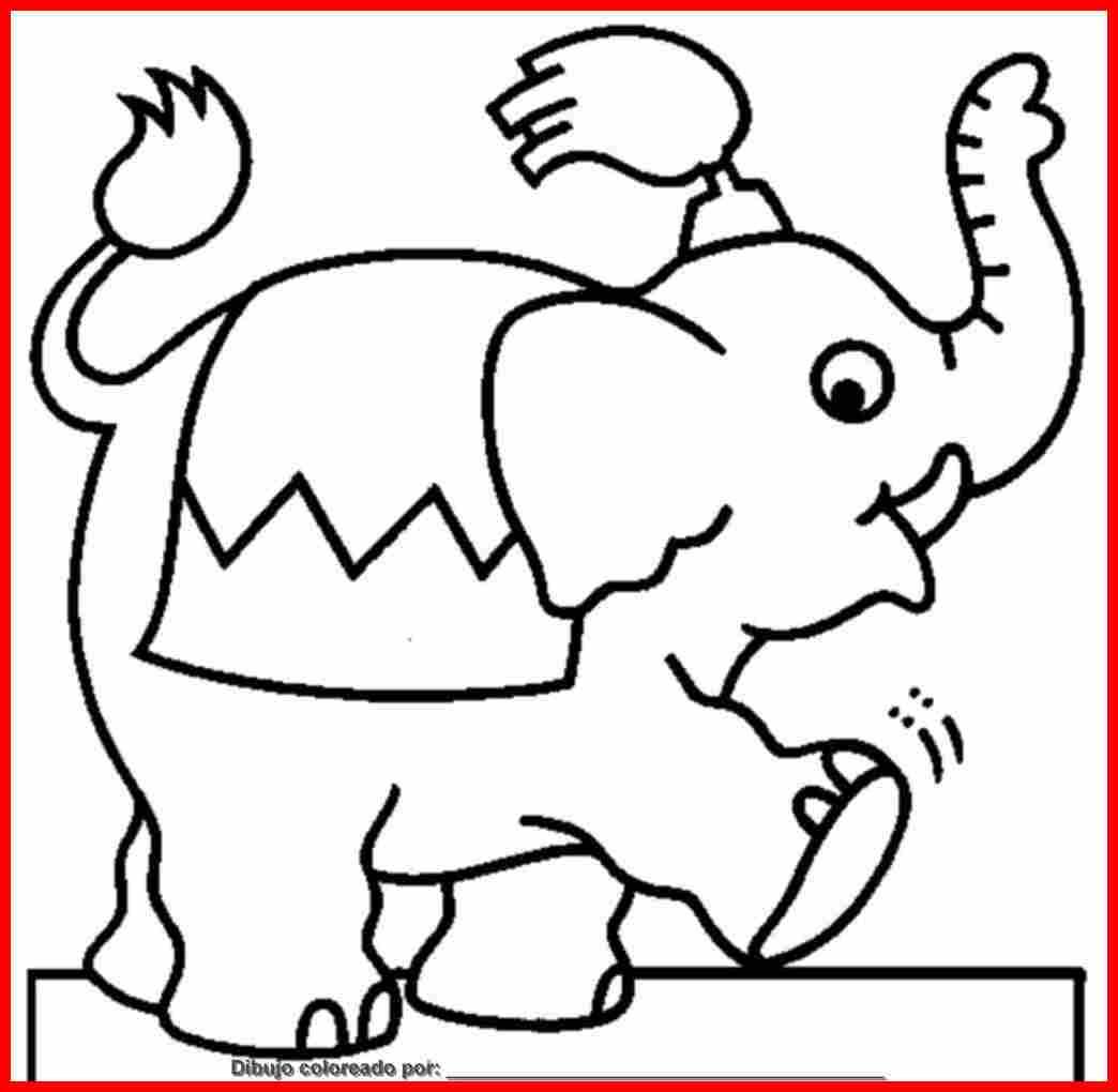 dibujo de elefantes para colorear e imprimir.