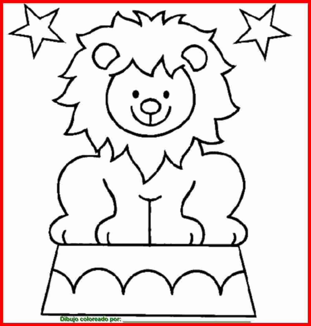 dibujo de leones para colorear e imprimir