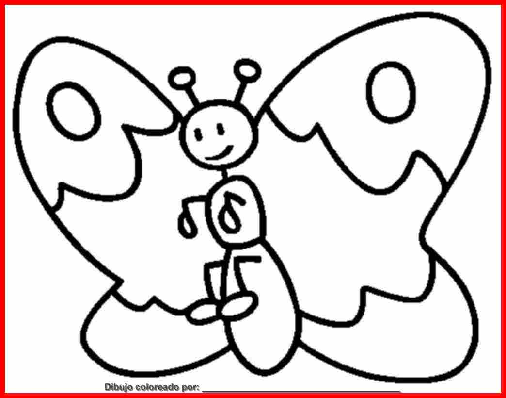 dibujo de mariposas para colorear e imprimir.