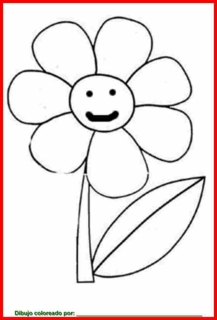 Dibujo de flor contenta para colorear imprimir y pintar for Papel para dibujar