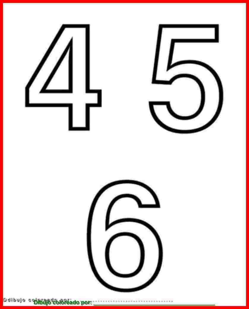 numeros para colorear pulsar sobre la imagen para imprimir