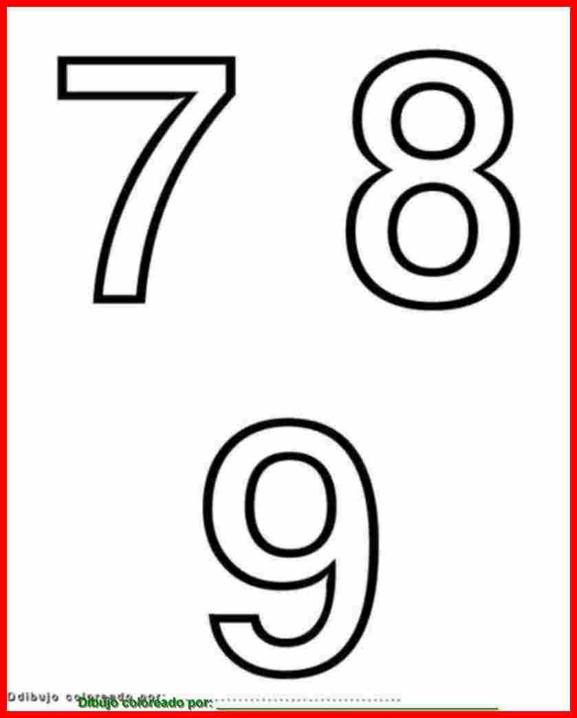dibujo de números para colorear e imprimir.