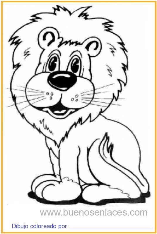 dibujo de leones para colorear e imprimir.