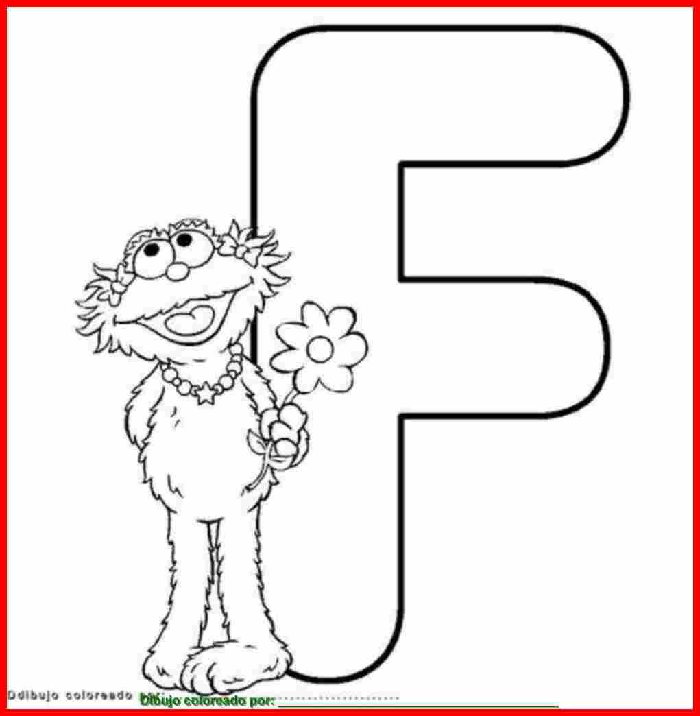 dibujo de letra F para colorear e imprimir.