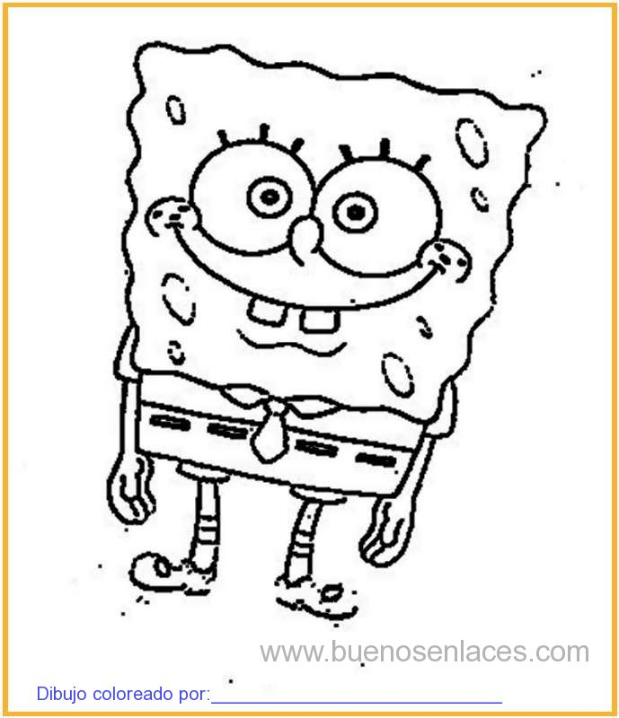 dibujo de Bob esponja para colorear e imprimir.