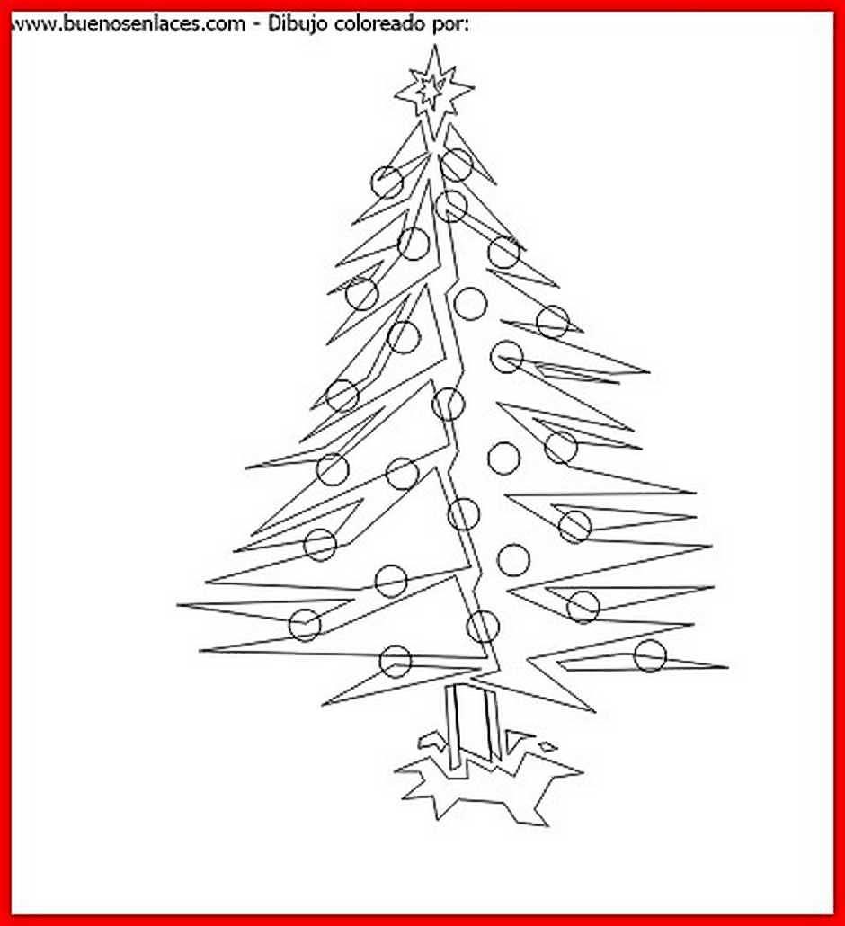 dibujo de abeto de navidad para colorear
