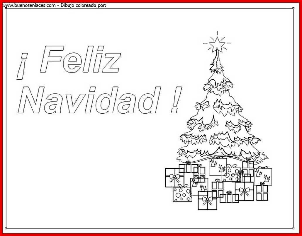 Dibujo de tarjeta de navidad para colorear e imprimir for Dibujos postales navidad ninos