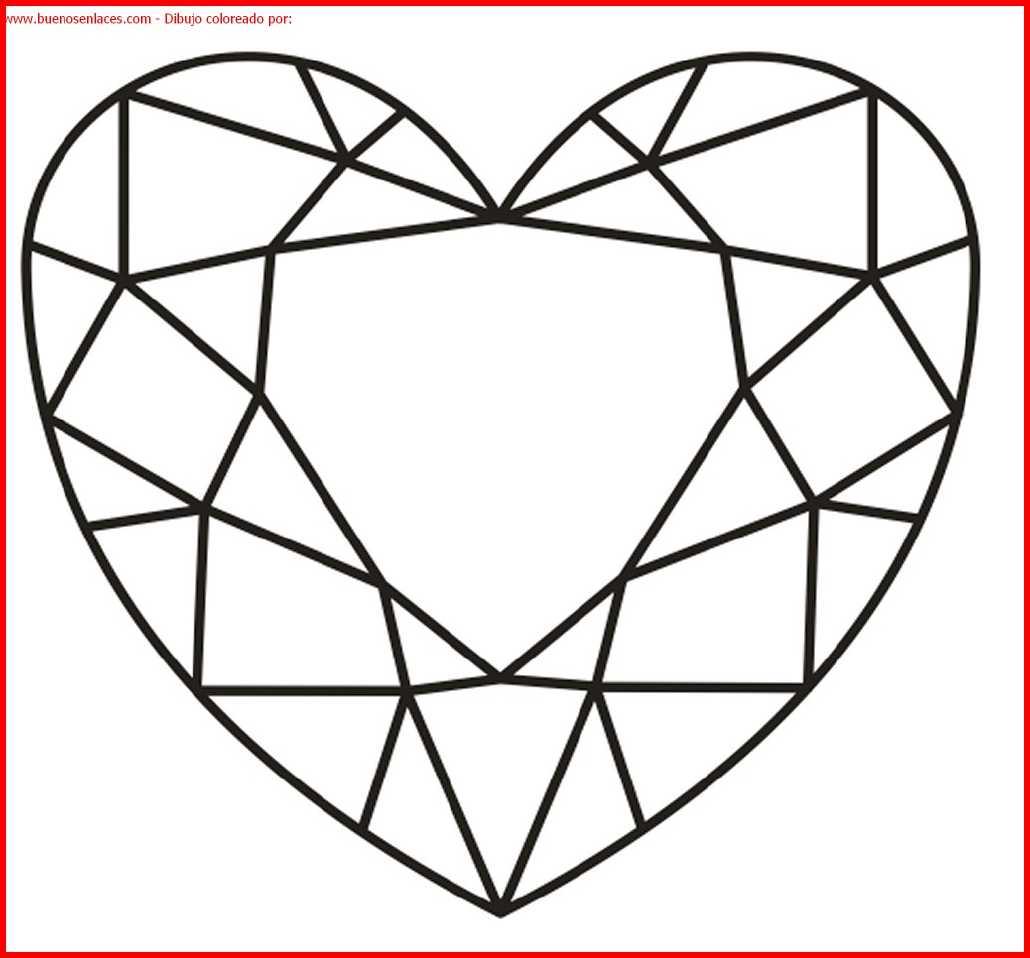 dibujo de corazón para colorear e imprimir.
