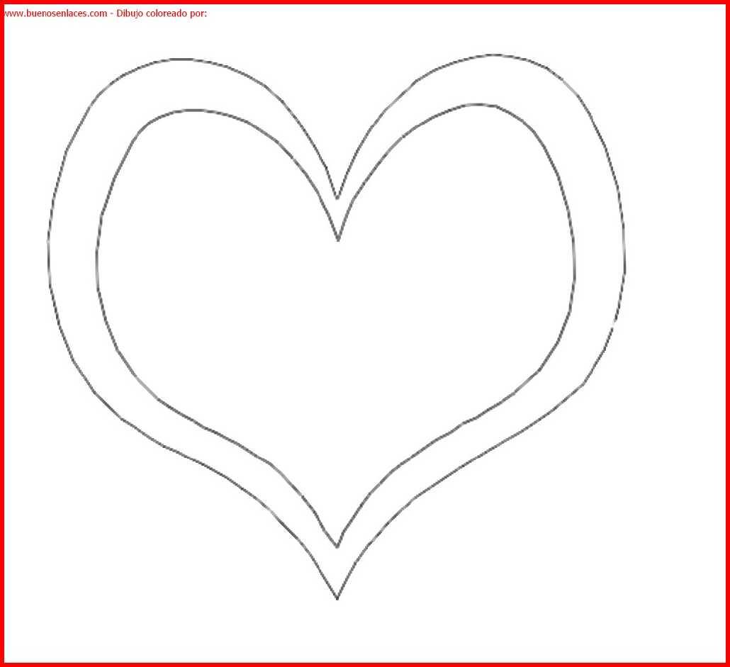 Dibujo De Corazón Para Colorear E Imprimir