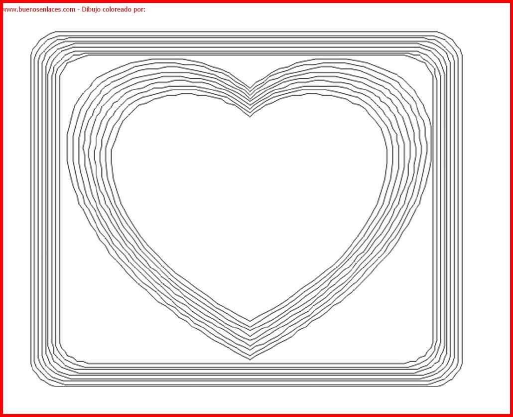 dibujo de corazon para colorear e imprimir.