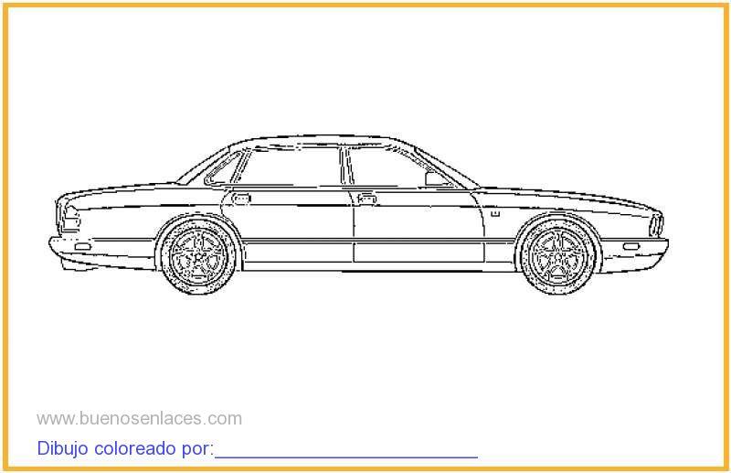 dibujo de autos para colorear e imprimir.