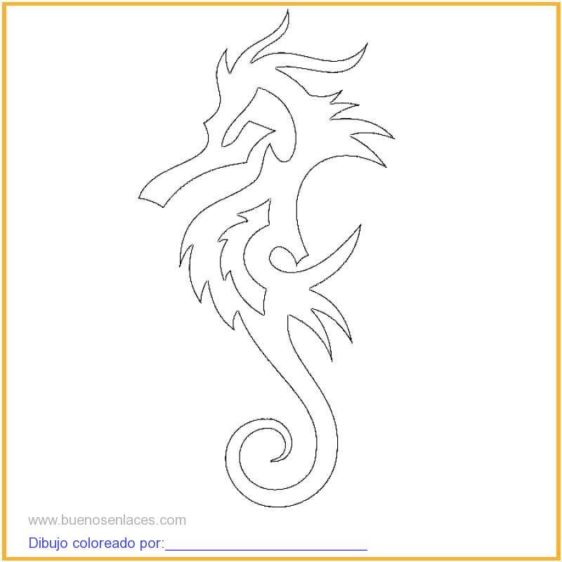 Dibujo De Caballito De Mar Para Colorear E Imprimir