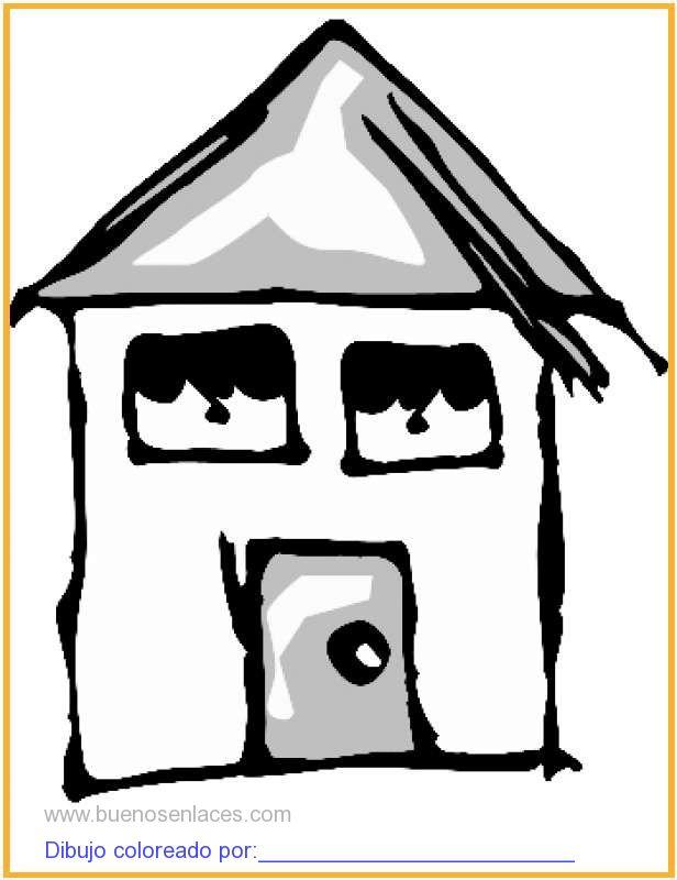 Dibujo de casa con ventanas para colorear e imprimir - Dibujos de casas para imprimir ...