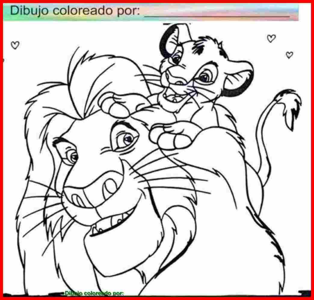 dibujo de rey león para colorear e imprimir.