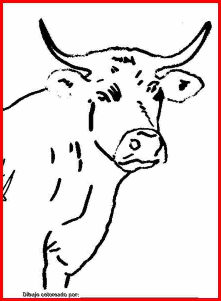 Fantástico Vaca Para Colorear Imágenes Motivo - Dibujos Para ...