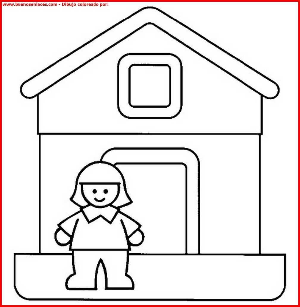 Dibujo de casas para colorear e imprimir - Imagenes de casas para dibujar ...