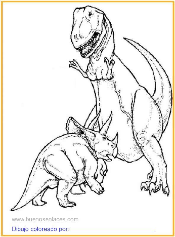 Dibujo De Dinosaurios Para Colorear E Imprimir