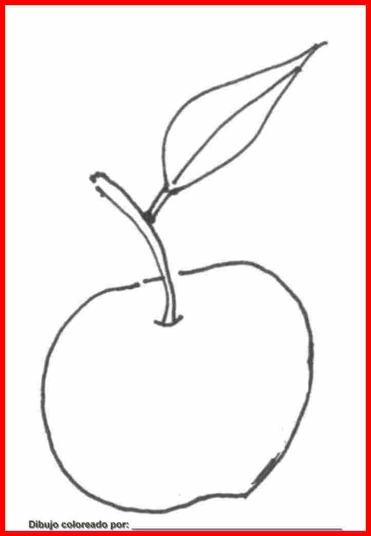 dibujo de fruta para colorear e imprimir.
