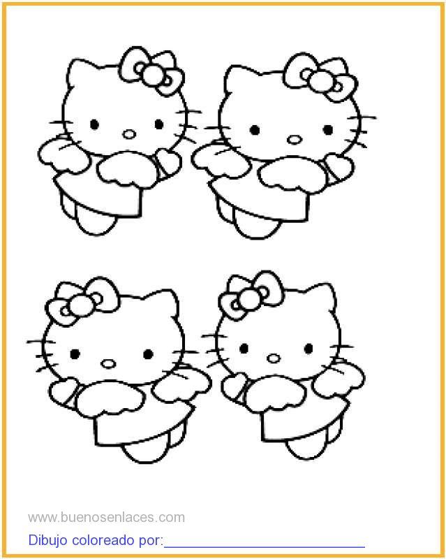 Dibujo De Hello Kitty Para Colorear E Imprimir