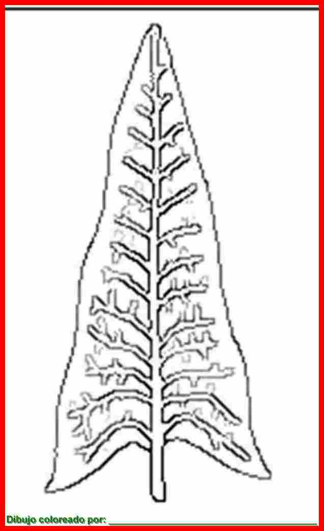 dibujo de hojas para colorear e imprimir.