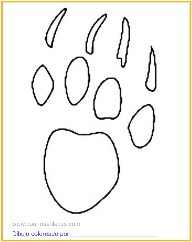 Dibujo De Huella De Animal Para Colorear E Imprimir