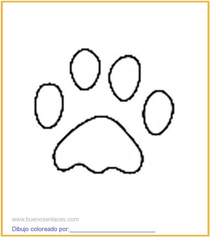 dibujo de huellas de animales para colorear e imprimir.