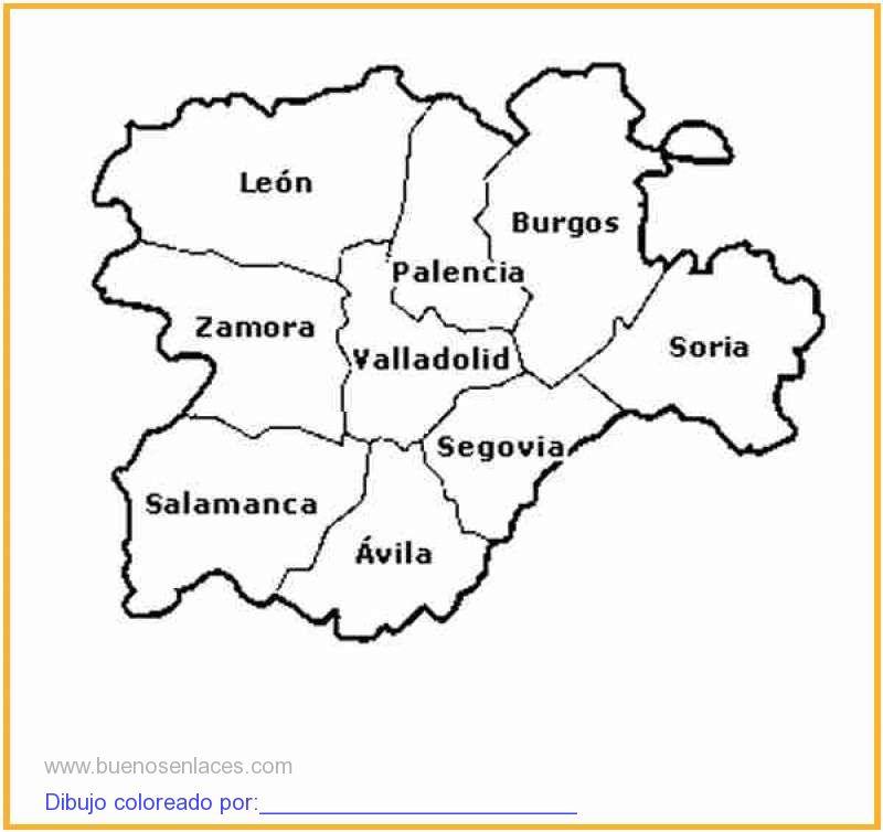 dibujo de mapa Castilla Len imprimir para colorear e imprimir
