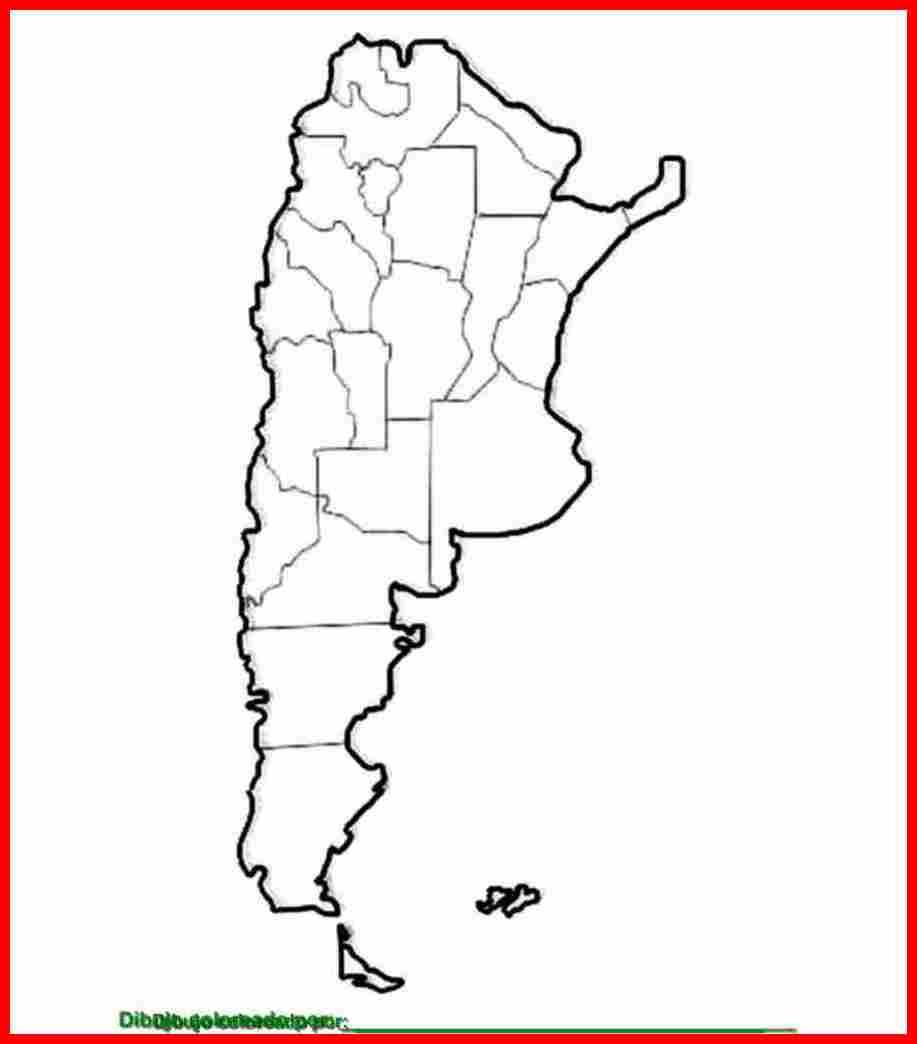 Dibujo De Mapa De La Rep  Blica Argentina Para Colorear  Imprimir Y