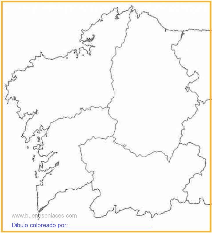 dibujo de mapa Galicia imprimir para colorear e imprimir