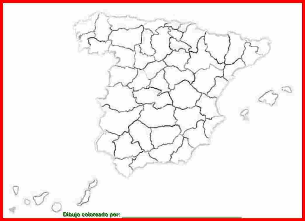 dibujo de mapa de España para colorear e imprimir.