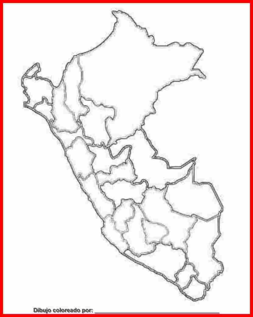 dibujo de mapa del perú para colorear e imprimir.