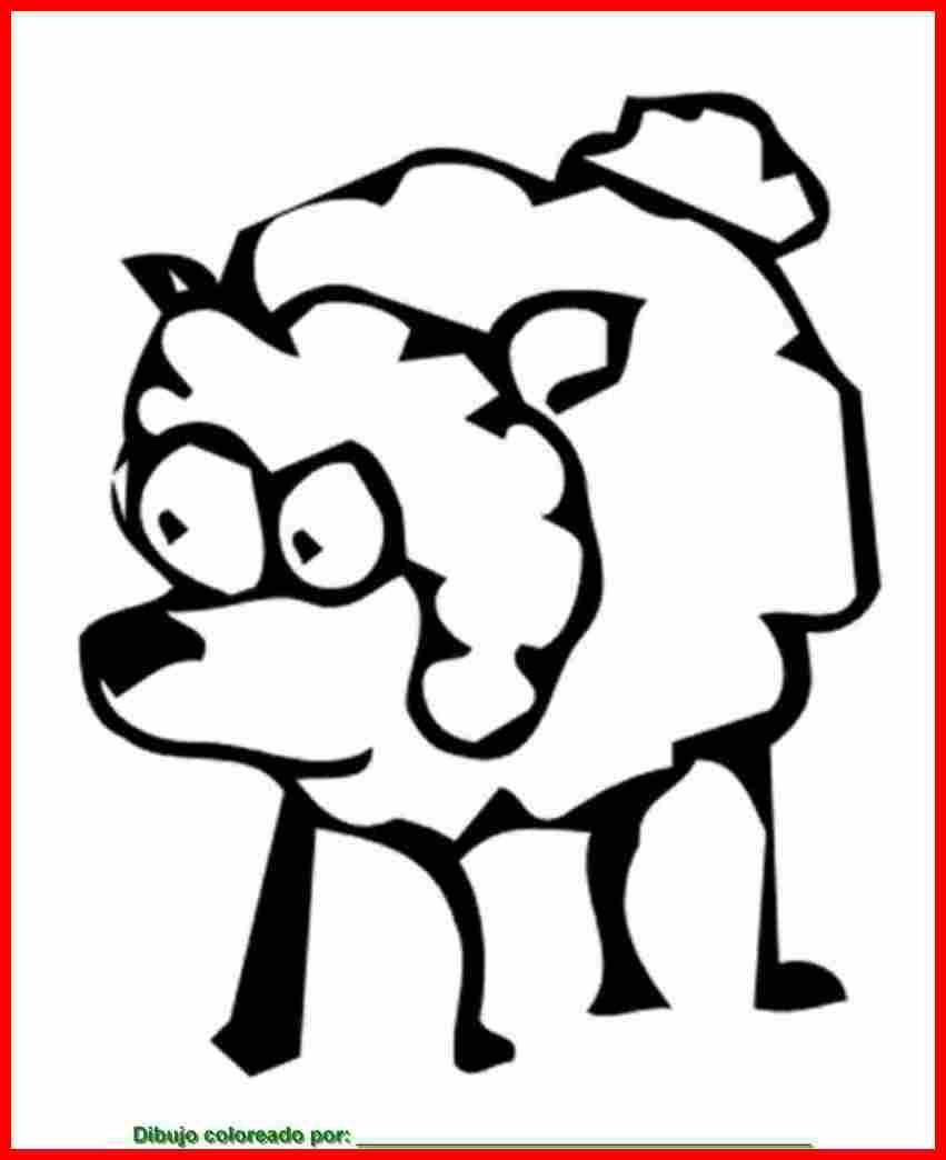 dibujo de ovejas para colorear e imprimir.