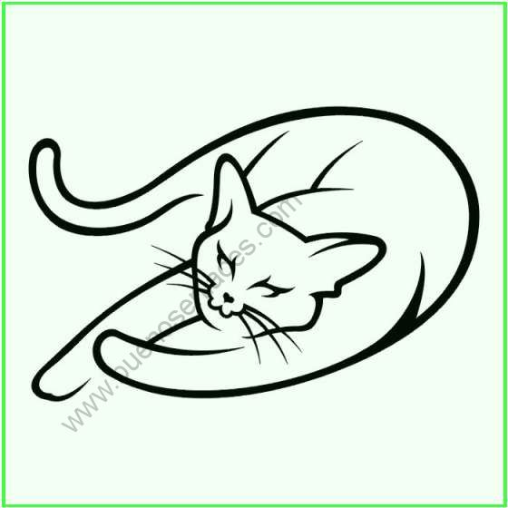 dibujos de gatos para colorear. Black Bedroom Furniture Sets. Home Design Ideas