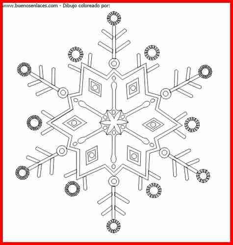 Copos de nieve para colorear new calendar template site - Arbol de navidad para colorear ...