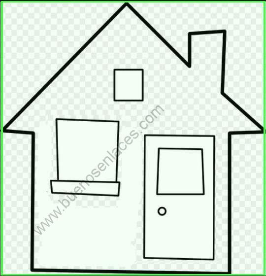 Dibujos de casas para colorear - Imagenes de casas para dibujar ...