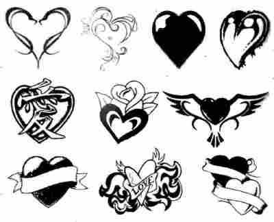 tatuajes disenos. tatuajes de corazones