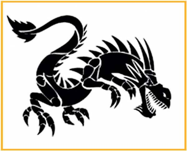 dibujo letra china dragon gratis: